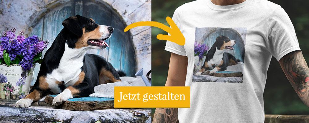 Hunde Motive auf T-Shirt drucken