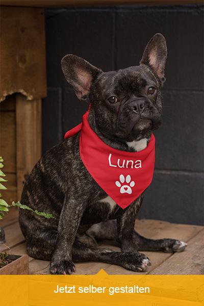 Luna Hundehalstuch mit Namen personalisieren