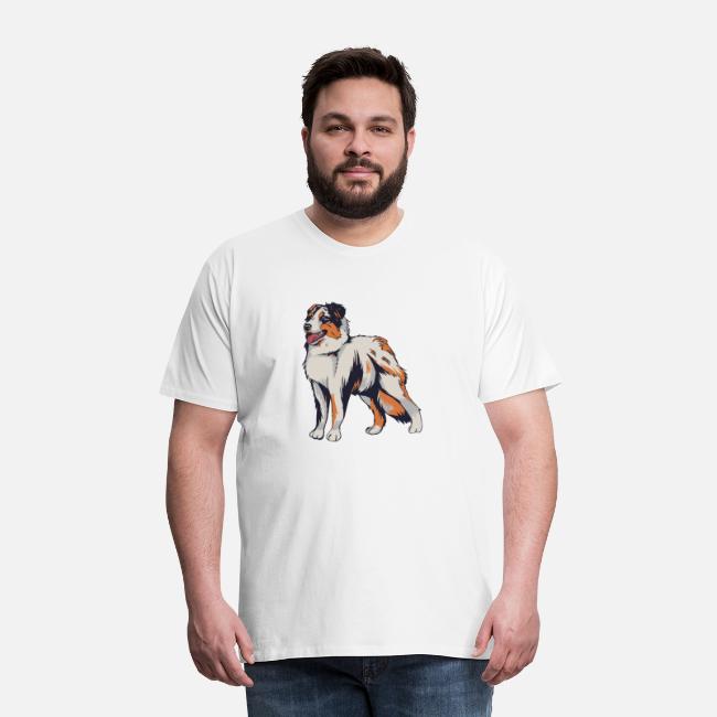 Australian Shepherd Hund T-Shirt Motiv