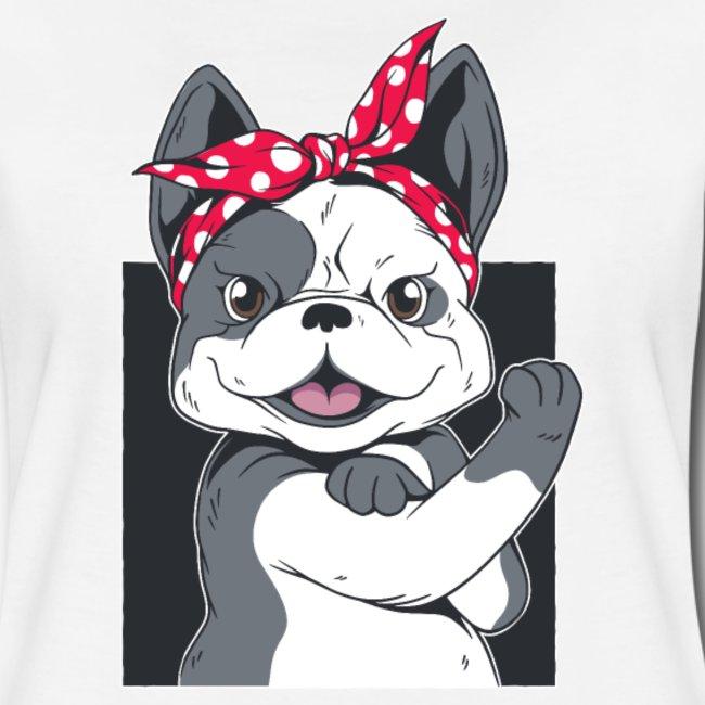 Französische Bulldogge Frauchen